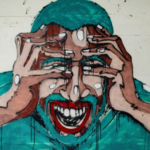 painting of a man with anxiety and stress